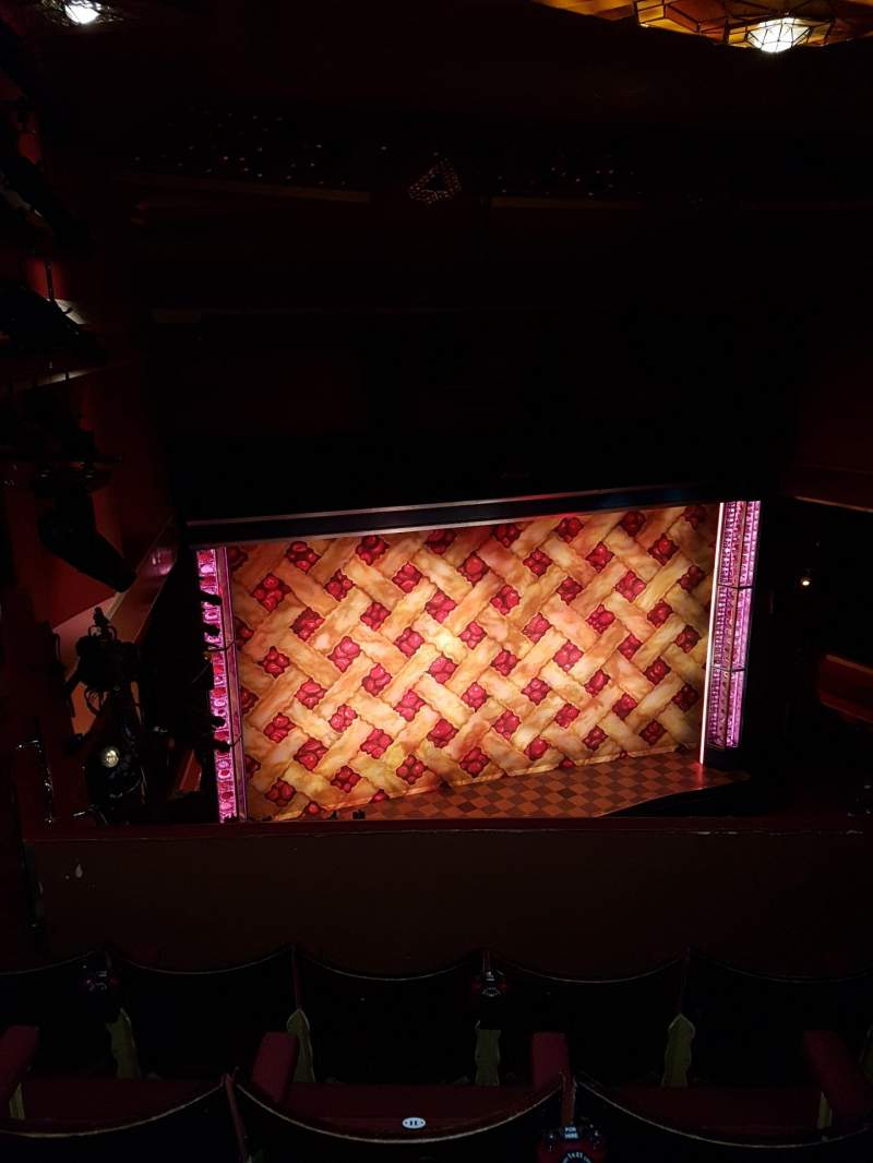 Seating view for Adelphi Theatre Section Upper Circle Row D Seat 32