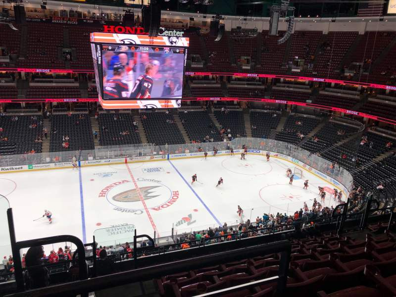 Seating view for Honda Center Section 412 Row K Seat 14