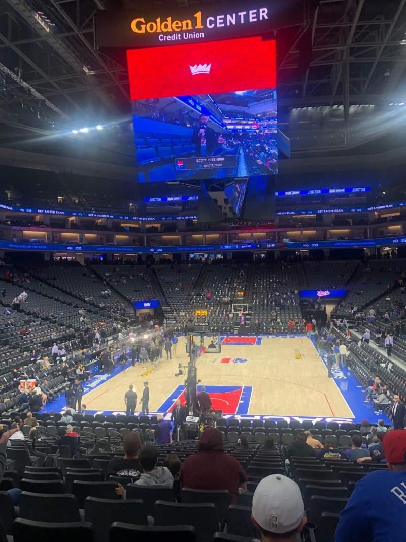 Seating view for Golden 1 Center Section 126 Row L Seat 7