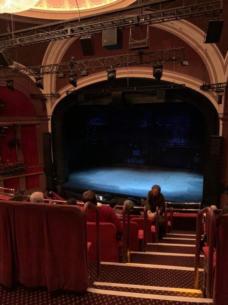 Seating view for Broadway Theatre - 53rd Street Section Rear Mezzanine RC Row A Seat 11