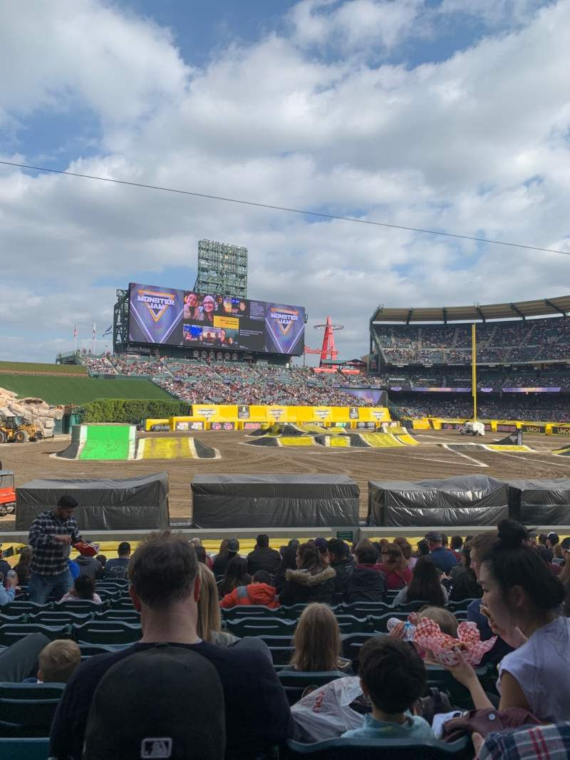 Seating view for Angel Stadium Section F105 Row Z Seat 9