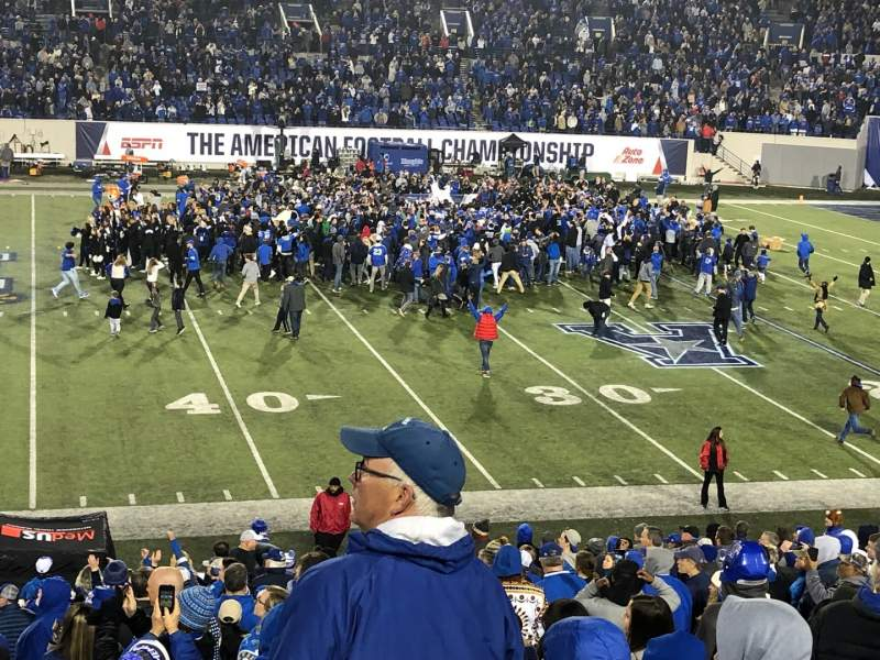 Seating view for Liberty Bowl Memorial Stadium Section 120 Row 29 Seat 5-8