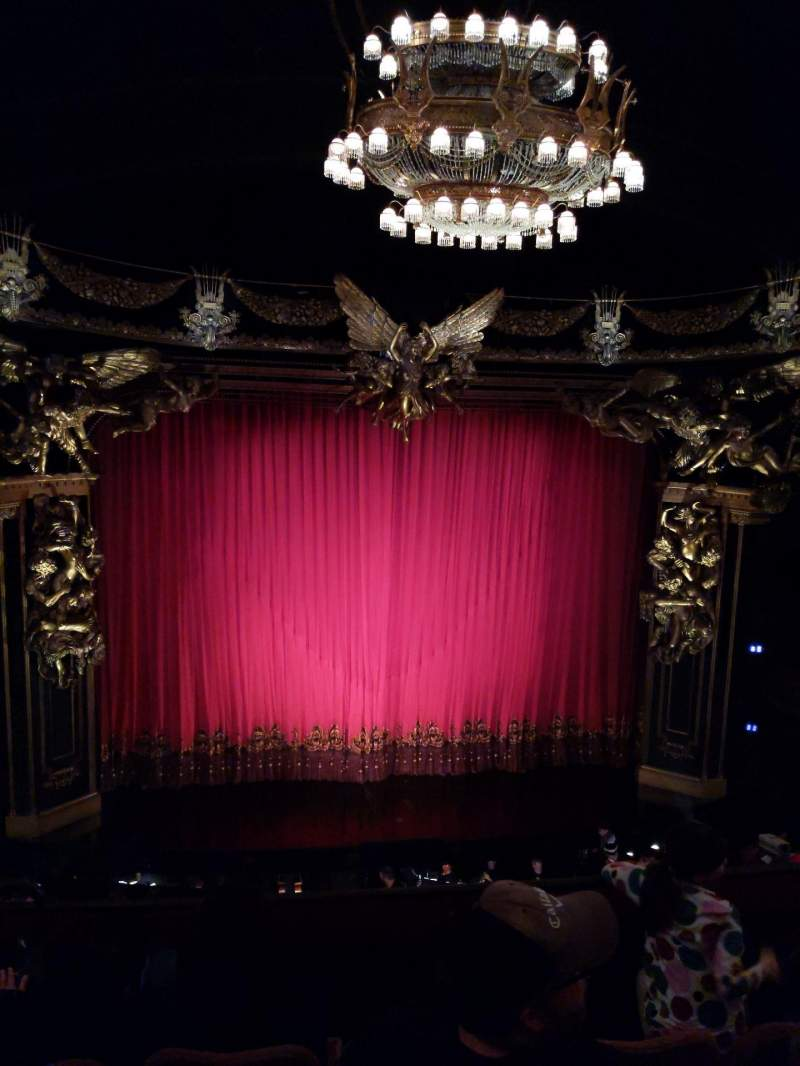 Seating view for Majestic Theatre Section Front Mezzanine C Row D Seat 102