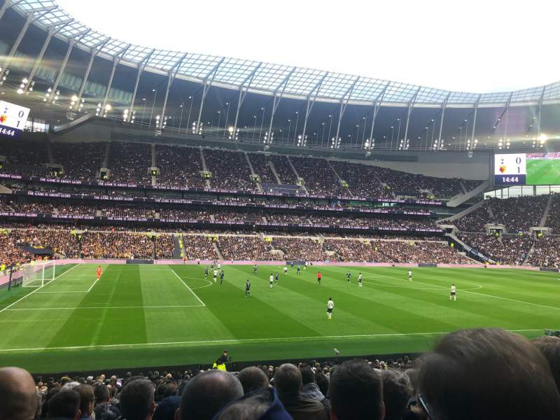 Seating view for Tottenham Hotspur Stadium Section 108 Row 27 Seat 210