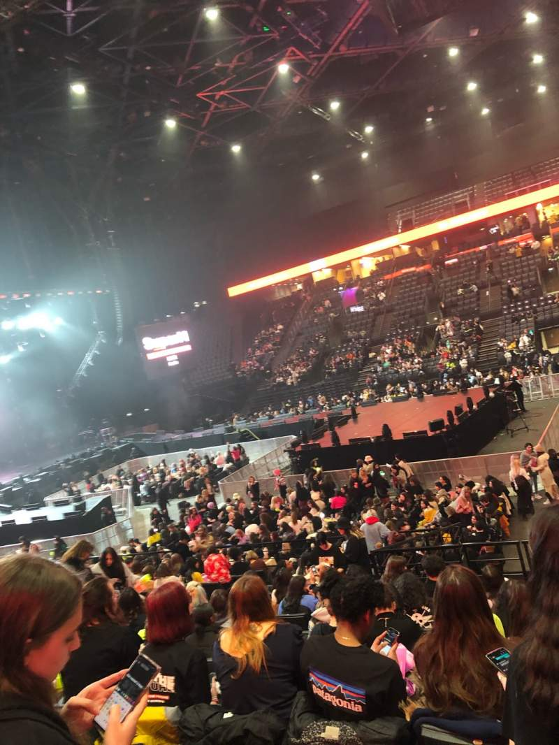 Seating view for AccorHotels Arena Section P Row 14 Seat 3