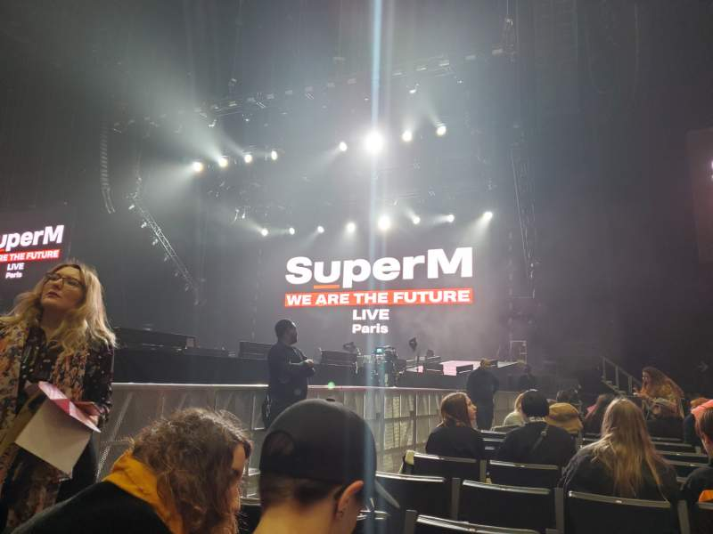 Seating view for AccorHotels Arena Section Y Row 18 Seat 13