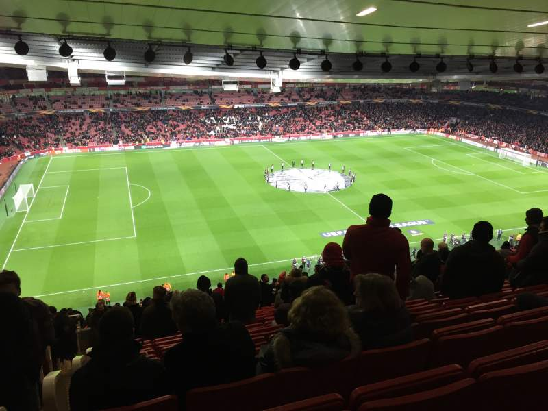 Seating view for Emirates Stadium Section Block 93 Row 73