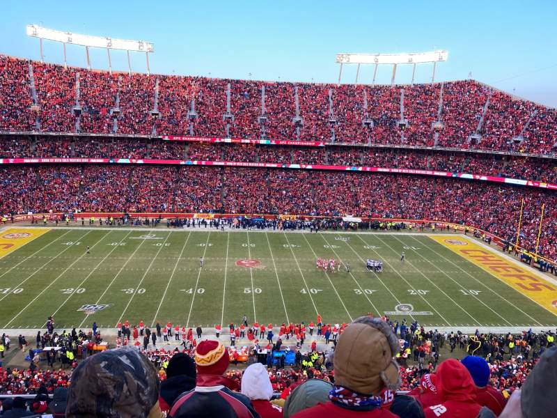 Seating view for Arrowhead Stadium Section 324 Row 12 Seat 2