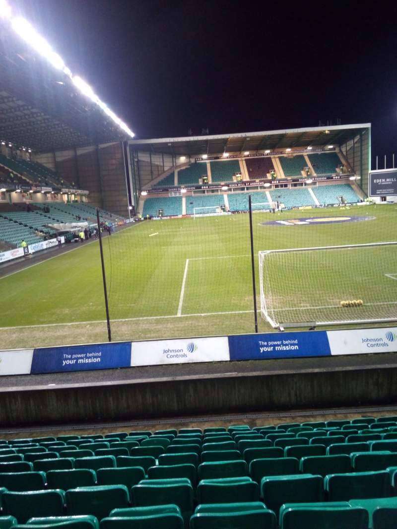 Seating view for Easter Road Stadium Section Lower Tier Row L Seat 107