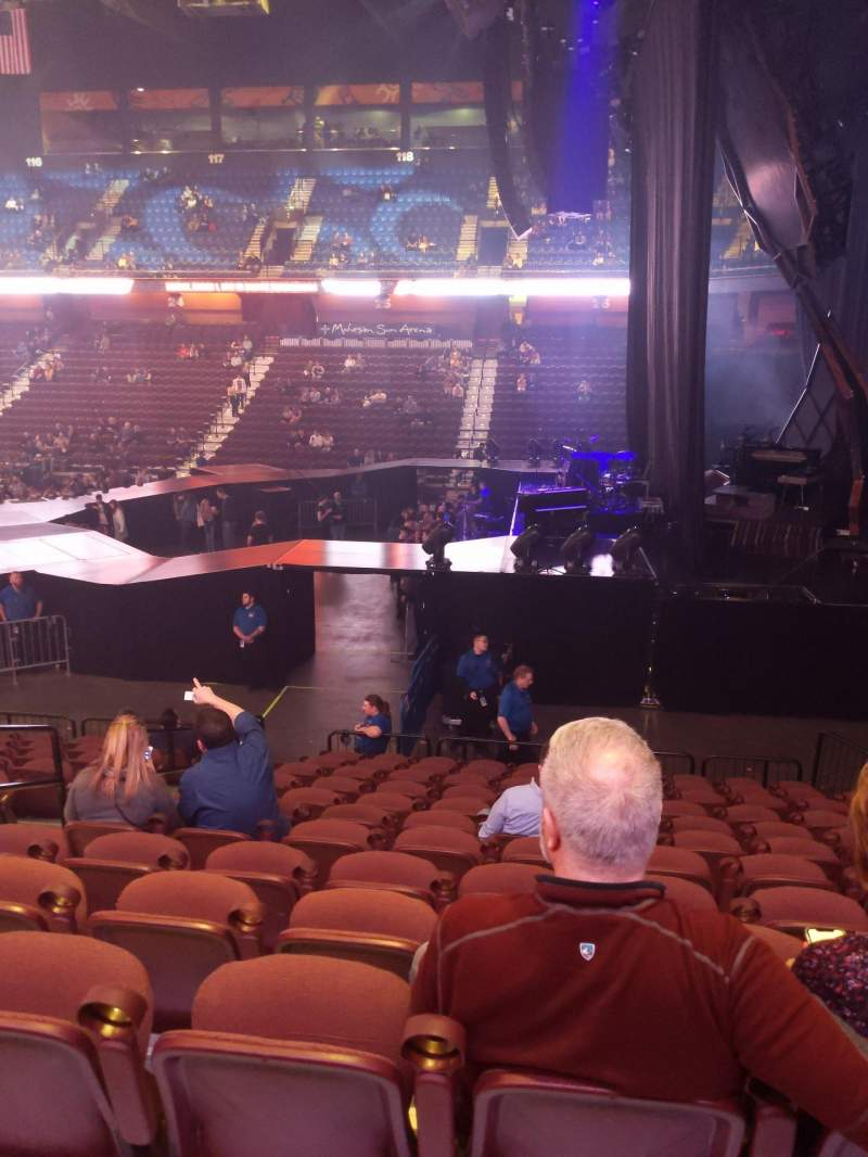 Seating view for Mohegan Sun Arena Section 14 Row P Seat 14