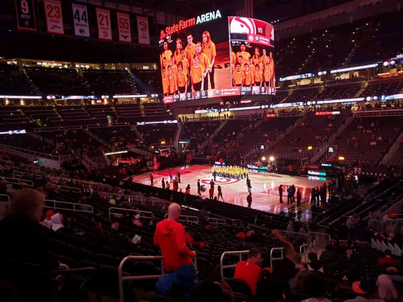 Seating view for State Farm Arena Section 106 Row std Seat rm