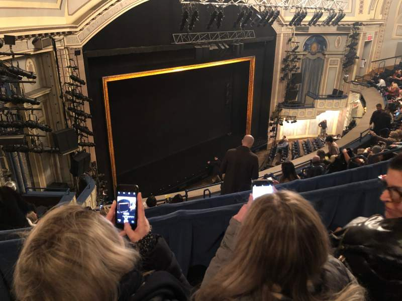 Seating view for Ambassador Theatre Section Rear Mezzanine L Row B Seat 17