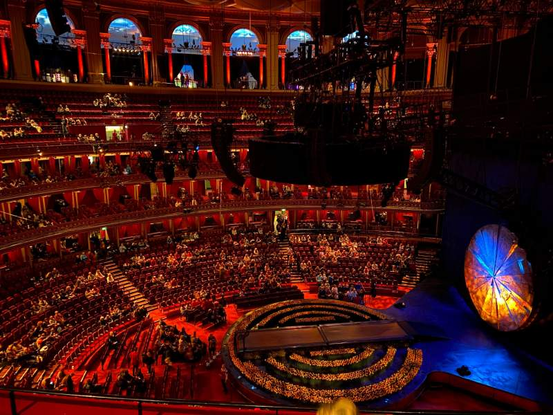 Seating view for Royal Albert Hall Section Rausing Circle W Row 4 Seat 183