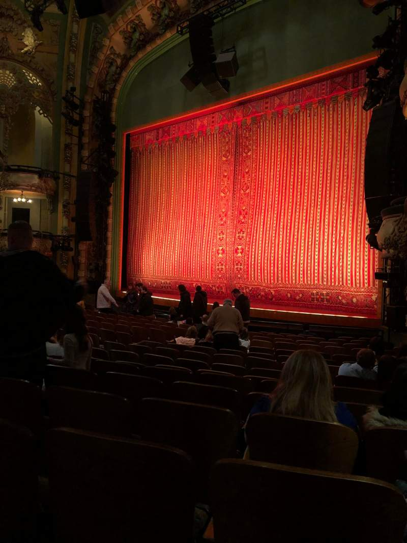 Seating view for New Amsterdam Theatre Section Orchestra R Row Q Seat 26