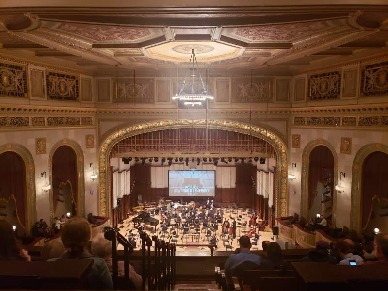 Seating view for Orchestra Hall Section Mid Balcony Row H Seat 1