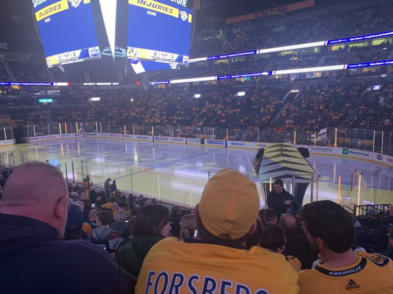 Seating view for Bridgestone Arena Section 118 Row H Seat 6