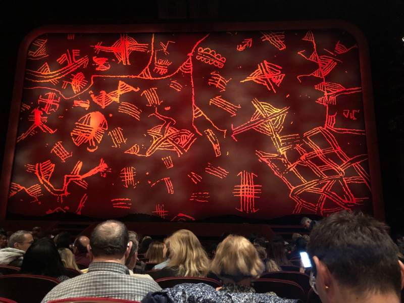 Seating view for Minskoff Theatre Section Orchestra C Row L Seat 117