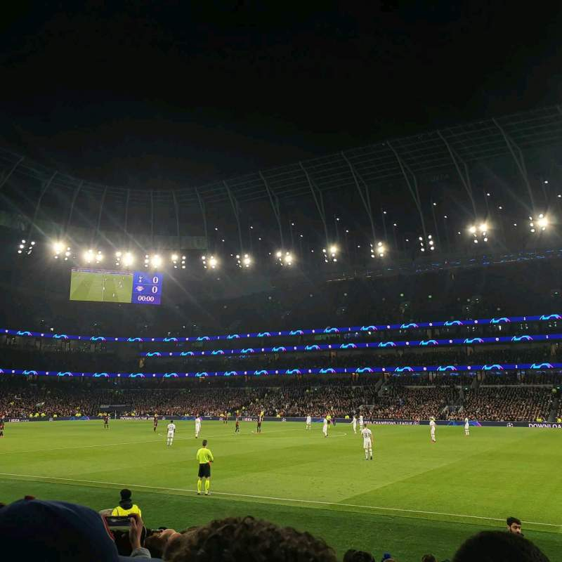 Seating view for Tottenham Hotspur Stadium Section 102 Row 11 Seat 41