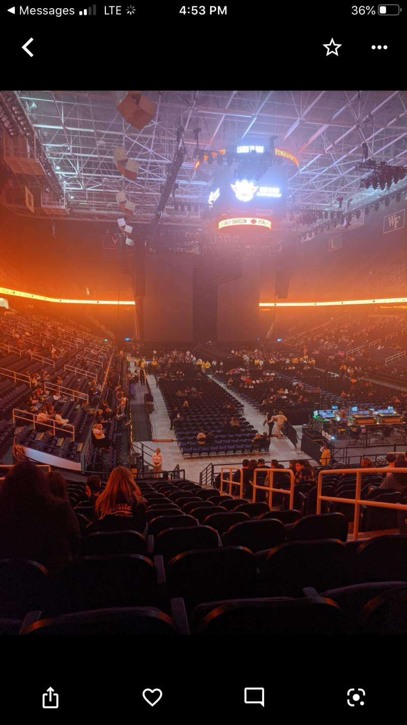 Seating view for Greensboro Coliseum Section 115 Row SS Seat 16