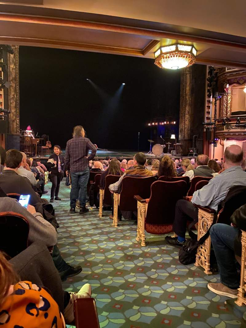 Seating view for Belasco Theatre Section Orchestra L Row P Seat 1