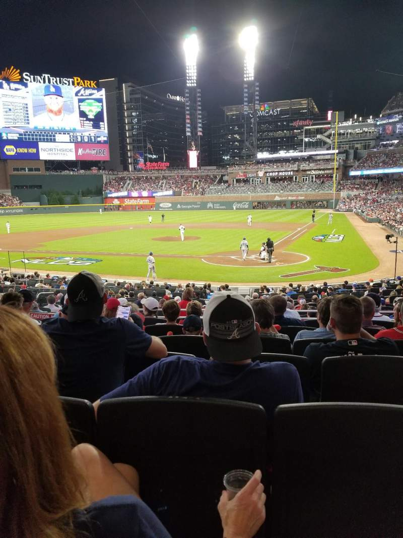 Seating view for Truist Park Section 127 Row 7 Seat 9