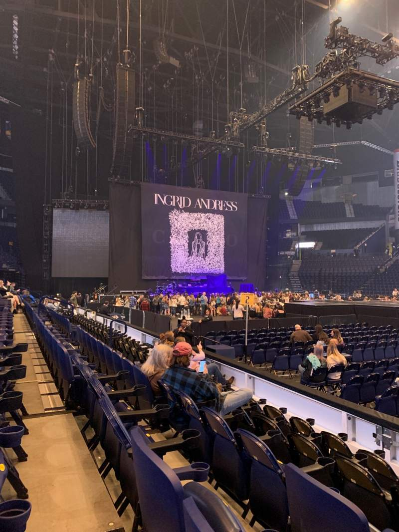 Seating view for Bridgestone Arena Section 116 Row EE Seat 2