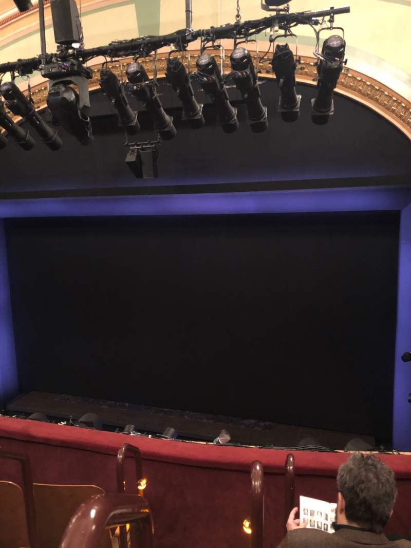 Seating view for Booth Theatre Section Mezzanine R Row D Seat 2