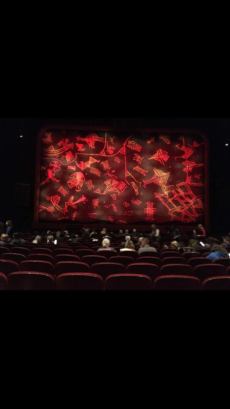 Seating view for Minskoff Theatre Section Orchestra C Row P Seat 109