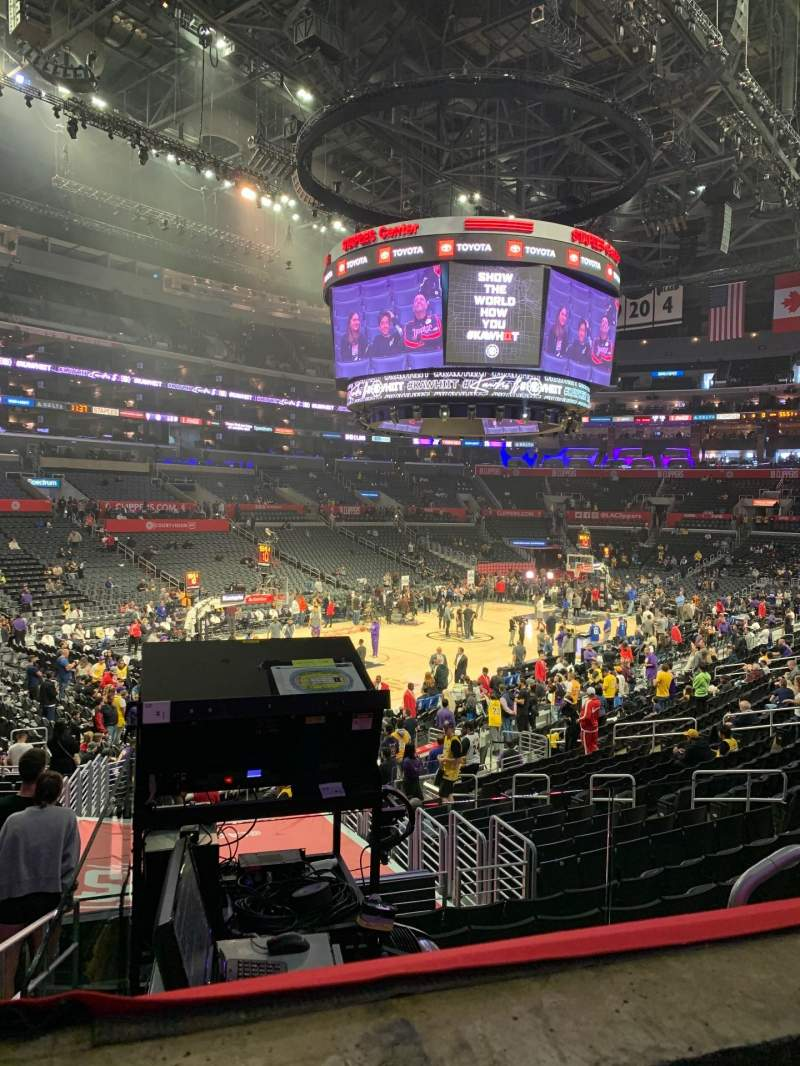 Seating view for Staples Center Section PR9 Row 1 Seat 5