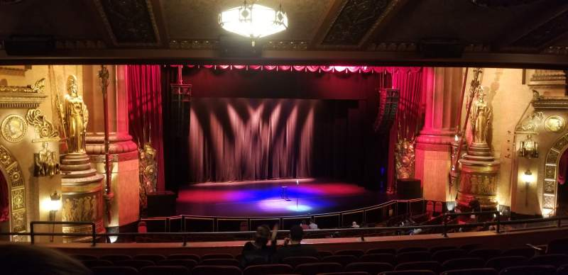 Seating view for Beacon Theatre Section Loge 1 Row H Seat 17