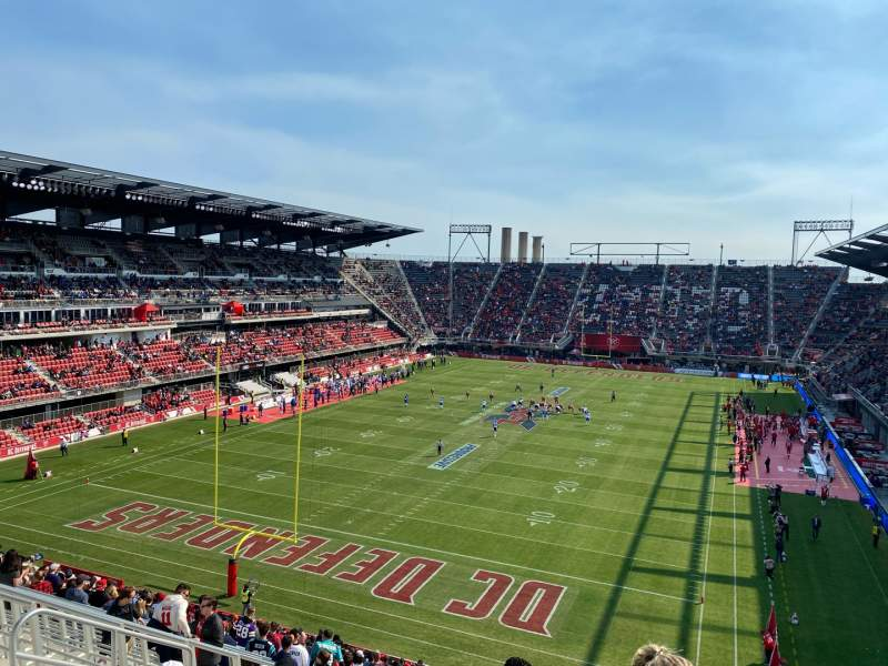 Seating view for Audi Field Section 135 Row 28 Seat 15