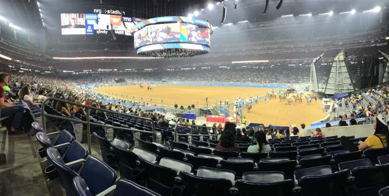 Seating view for NRG Stadium Section 101 Row S Seat 11
