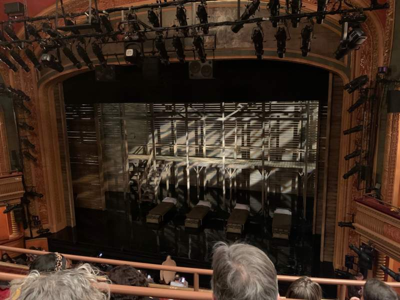 Seating view for American Airlines Theatre Section Front Mezzanine Row C Seat 112