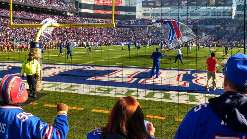 Seating view for Buffalo Bills Stadium Section 101 Row 3 Seat 1