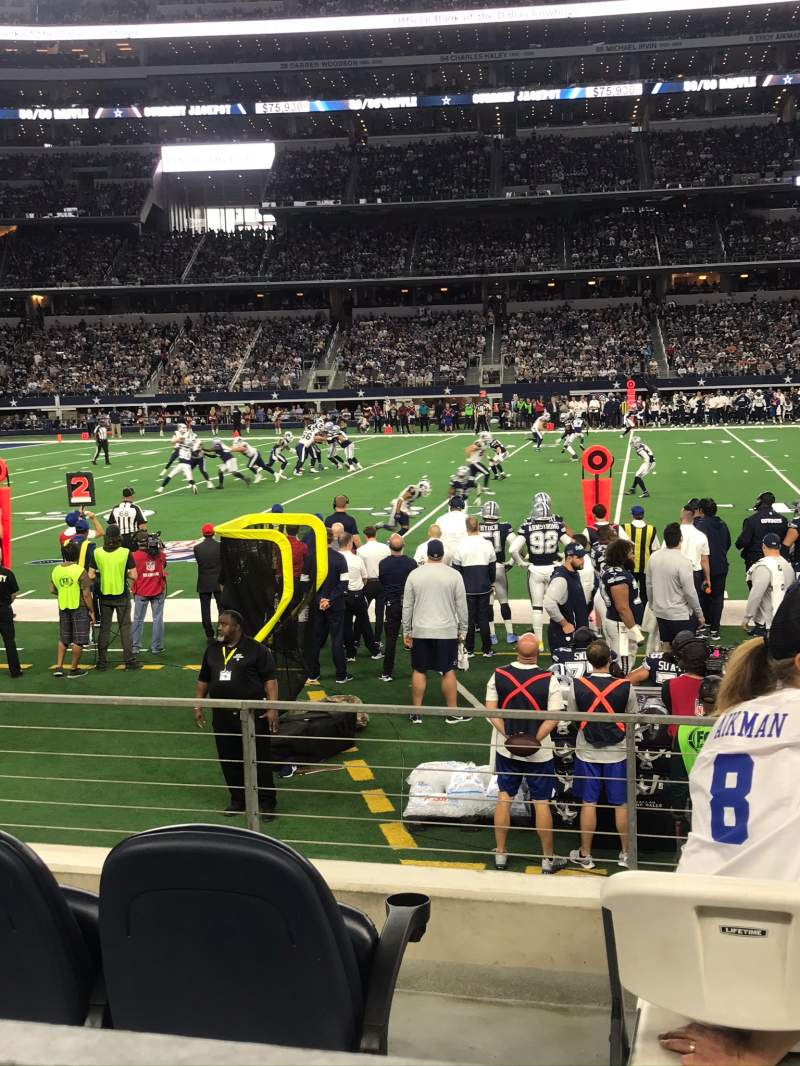 Seating view for AT&T Stadium Section C112 Row 4 Seat 1