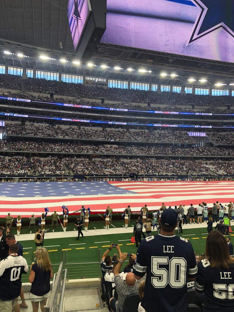 Seating view for AT&T Stadium Section C113 Row 9 Seat 19-20