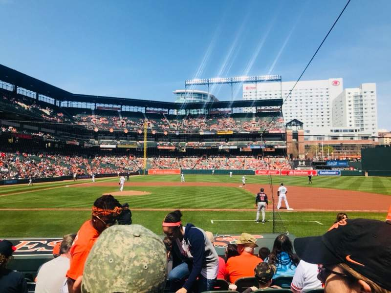 Seating view for Oriole Park at Camden Yards Section 22 Row 7
