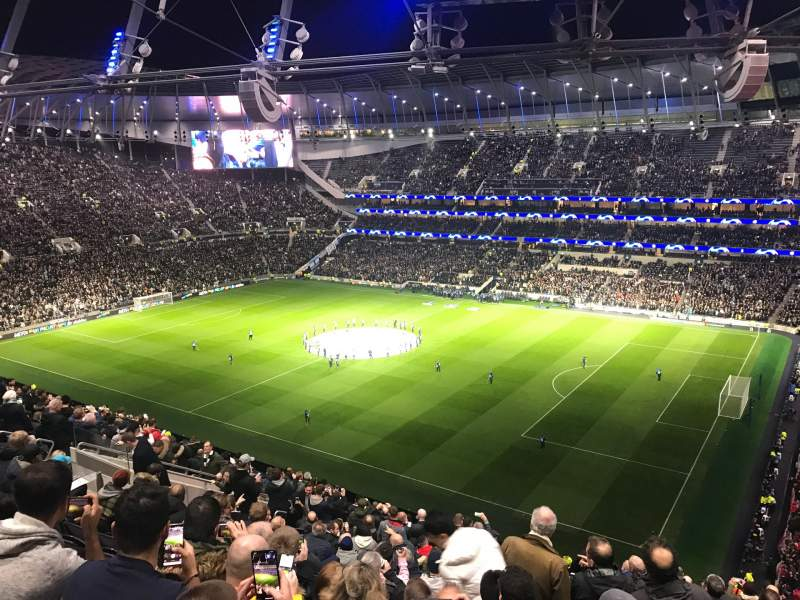 Seating view for Tottenham Hotspur Stadium Section 521 Row 18 Seat 74