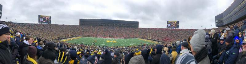 Seating view for Michigan Stadium Section 23 Row 68