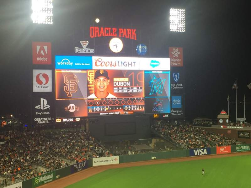Seating view for Oracle Park Section VB325 Row B Seat 23