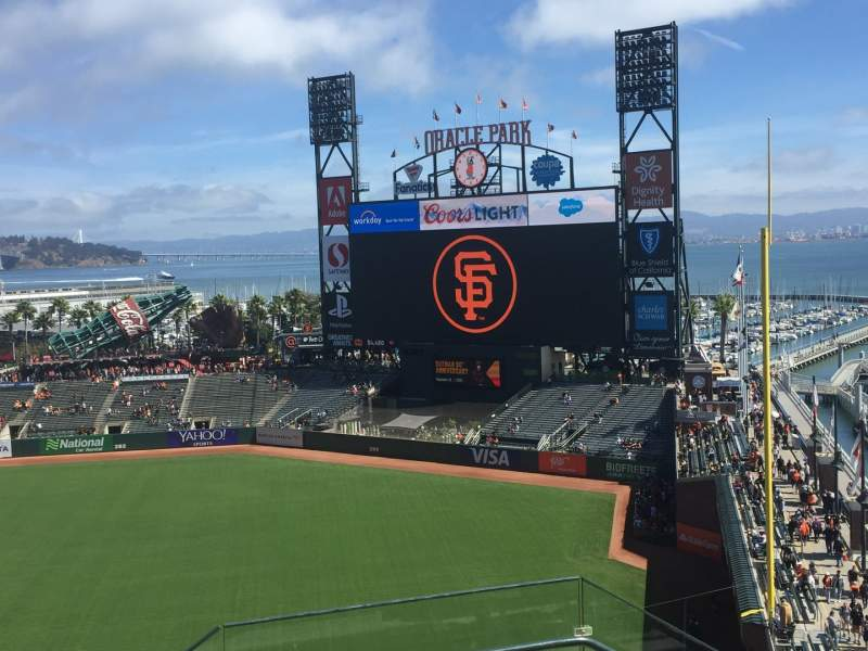 Seating view for Oracle Park Section VR304 Row 3 Seat 1