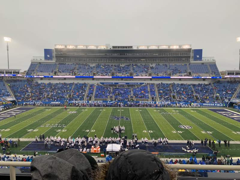 Seating view for Kroger Field Section 206 Row 3 Seat 17