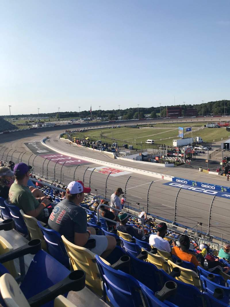 Seating view for Darlington Raceway Section Tyler Tower V Row 18 Seat 17