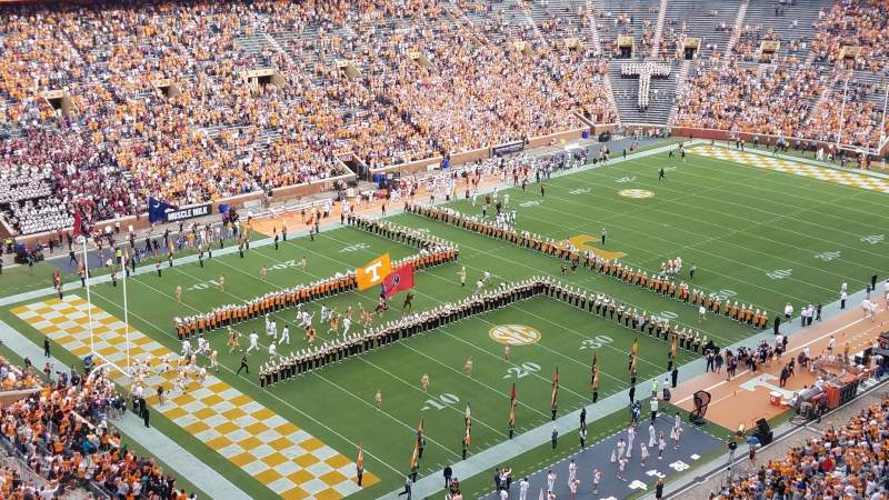 Seating view for Neyland Stadium Section XX3 Row 22 Seat 25-26