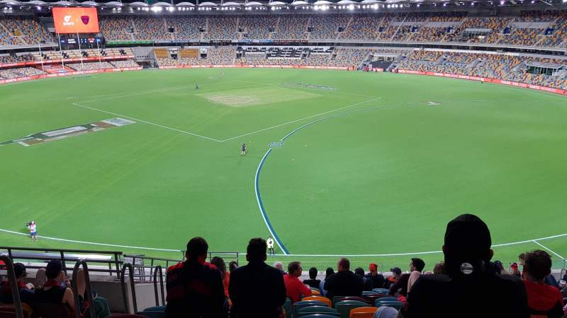 Seating view for The Gabba Section 61 Row SS Seat 259