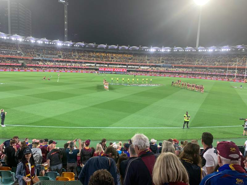 Seating view for The Gabba Section 8 Row Q Seat 271