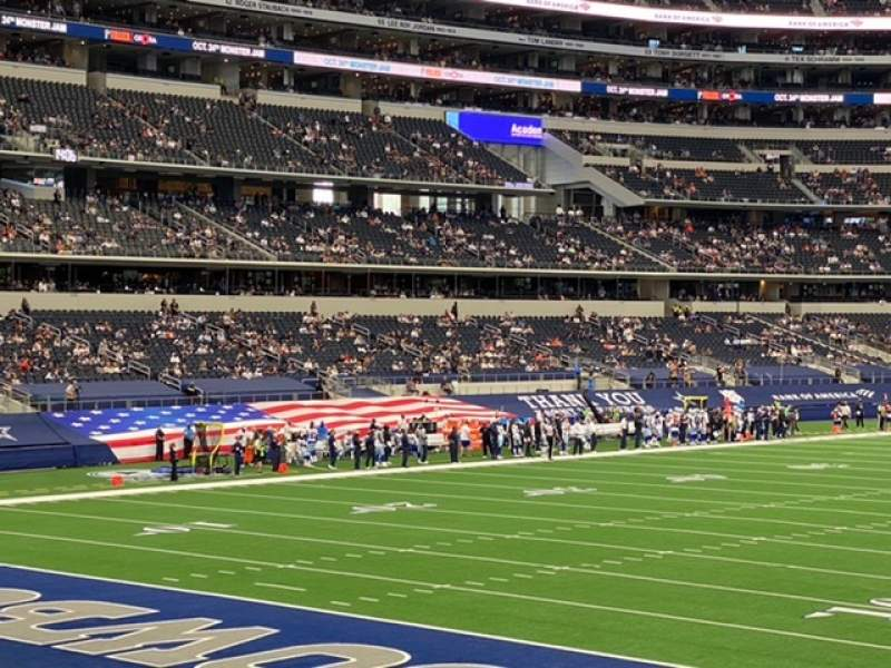 Seating view for AT&T Stadium Section 145 Row 16 Seat 10
