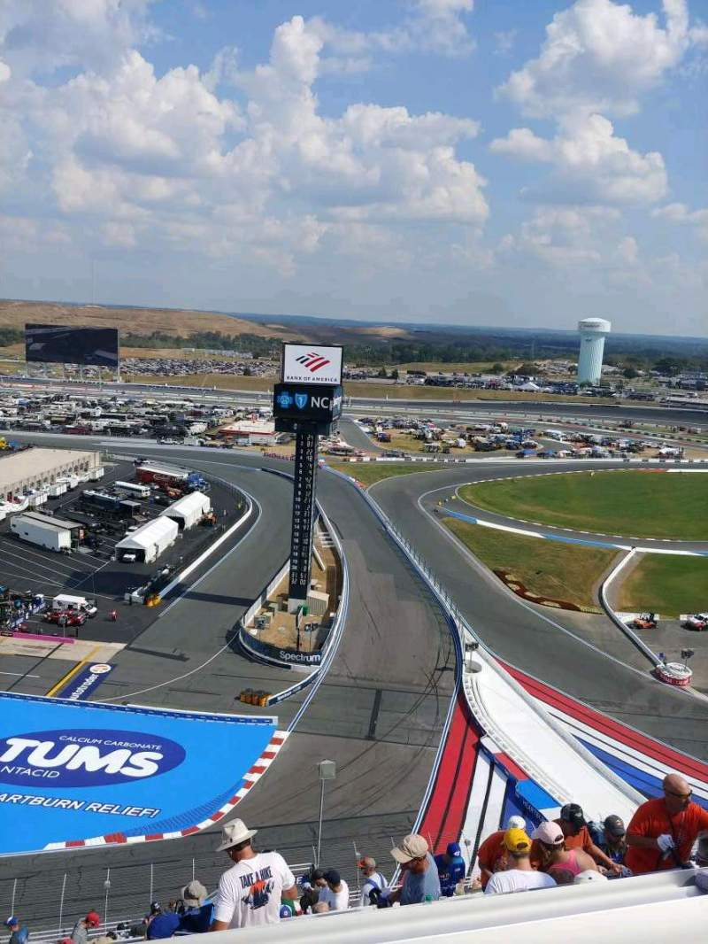 Seating view for Charlotte Motor Speedway Section Ford UT F Row 68 Seat 7