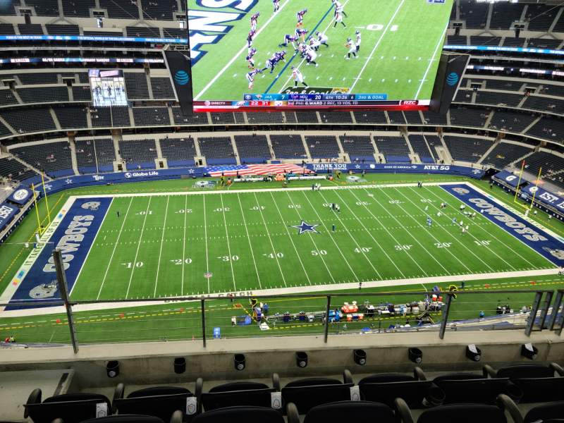 Seating view for AT&T Stadium Section 444 Row 12 Seat 18