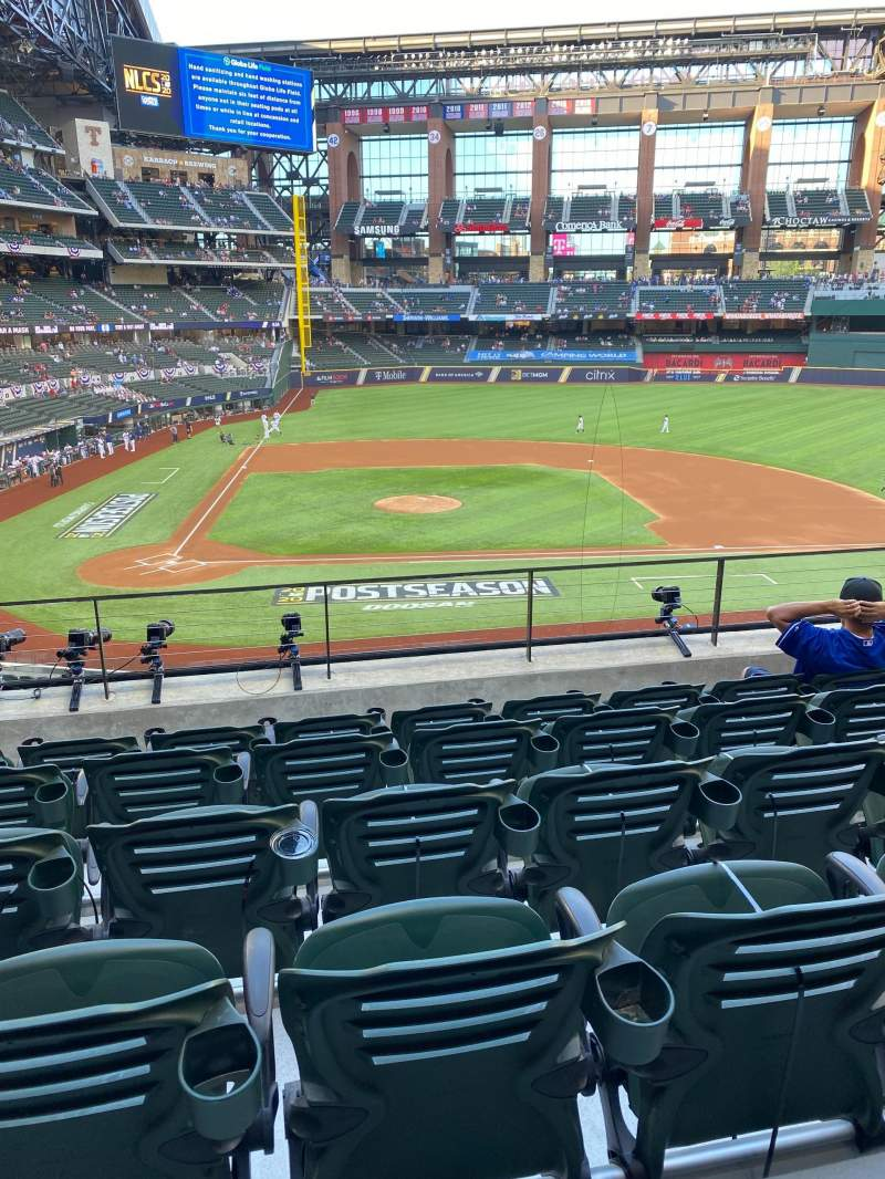 Seating view for Globe Life Field Section 118 Row 6 Seat 11